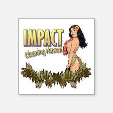 "Impact Cleaning Hawaii Hula Square Sticker 3"" x 3"""