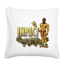 Impact Cleaning Hawaii Broom  Square Canvas Pillow