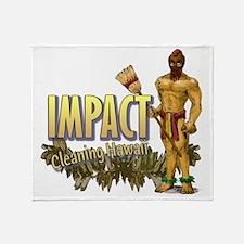 Impact Cleaning Hawaii Broom Warrior Throw Blanket