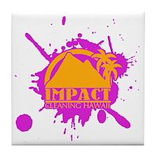 Impact Cleaning Hawaii Pink Splat Tile Coaster