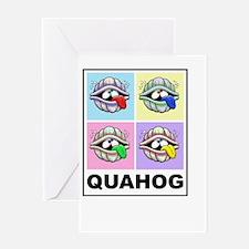 Pop Art Quahog on Black Greeting Card