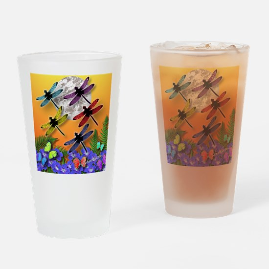 Dragonflying To The Moon Drinking Glass