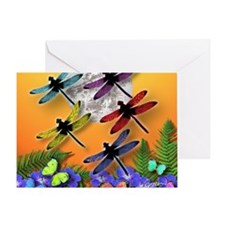 Dragonflying To The Moon Greeting Card