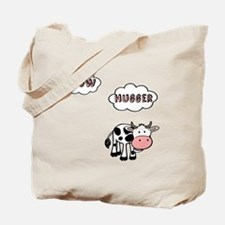 Cow Hugger Tote Bag