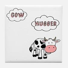 Cow Hugger Tile Coaster