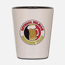 Official Belgian Drinking Team Glass Shot Glass
