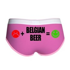 Plus Belgian Beer Equals Happy Women's Boy Brief