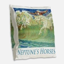 CRANE_EMAIL_NEPTUNE_LETTERED_S Burlap Throw Pillow
