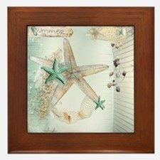 Summer  Sea Treasures Framed Tile