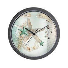 Summer  Sea Treasures Wall Clock