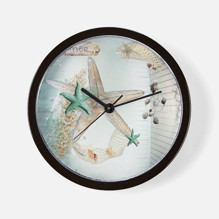 Summer  Sea Treasures Wall Clock