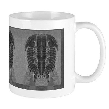 Grayscale Trilobite Repeat Mug