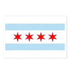 Flag Of Chicago Postcards (Package of 8)