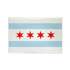 Flag Of Chicago Rectangle Magnet