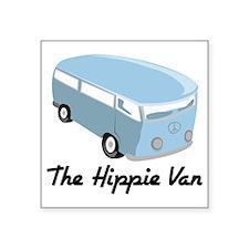 """The Hippie Van Square Sticker 3"""" x 3"""""""