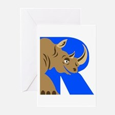 R is for Rinoceros Greeting Cards (Pk of 10)