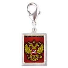 Russian Steel Droid Incredib Silver Portrait Charm