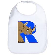 R is for Rinoceros Bib