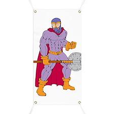 Executioner superhero with axe Banner