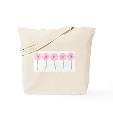 Row Of Pink Daisies Tote Bag