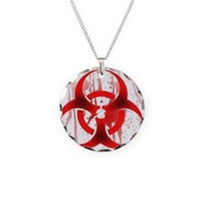 Blood Red Biohazard Necklace