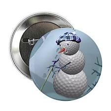 """Golf Ball Snowman 2.25"""" Button (10 pack)"""