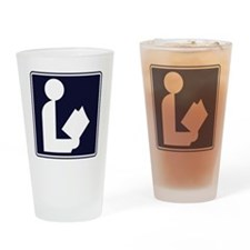CCProse - Library Sign Drinking Glass