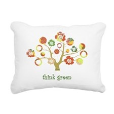think green enviro tree Rectangular Canvas Pillow