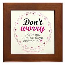 Dont worry Framed Tile