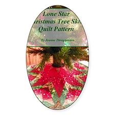 Lone Star Christmas Tree Skirt Patt Decal