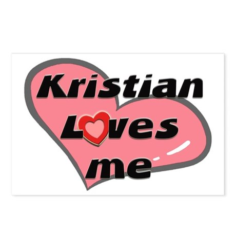 kristian loves me Postcards (Package of 8)