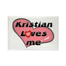 kristian loves me Rectangle Magnet