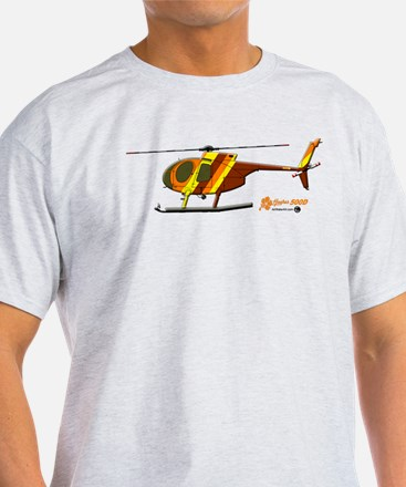 Hughes 500D Helicopter. T-Shirt