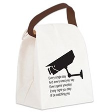 Watching You Canvas Lunch Bag