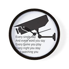 Watching You Wall Clock