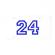 #24 Aluminum License Plate