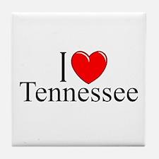 """I Love Tennessee"" Tile Coaster"