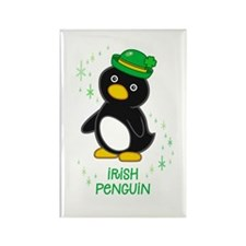 Irish Penguin Rectangle Magnet