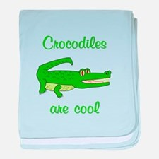 Crocodiles are Cool baby blanket