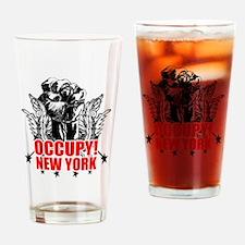 Occupy New York Drinking Glass