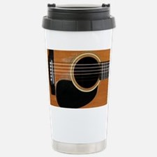 Old, Acoustic Guitar Stainless Steel Travel Mug