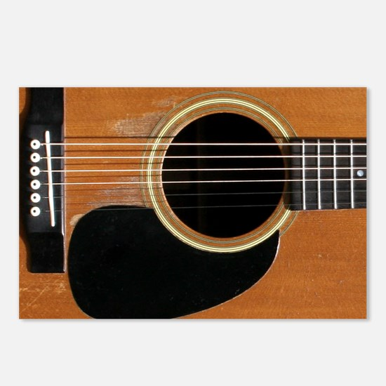 Old, Acoustic Guitar Postcards (Package of 8)
