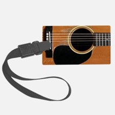 Old, Acoustic Guitar Luggage Tag