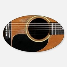 Old, Acoustic Guitar Decal