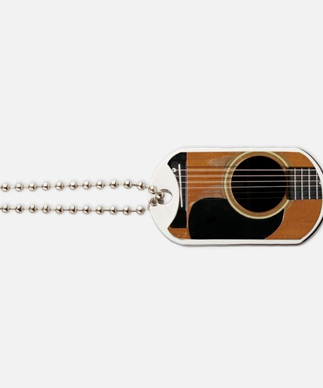 Old, Acoustic Guitar Dog Tags