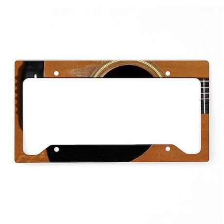 Old, Acoustic Guitar License Plate Holder