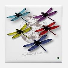 Dragonflies Around Some planet Tile Coaster
