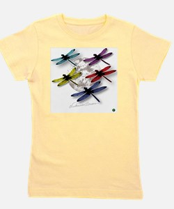 Dragonflies Around Some planet Girl's Tee