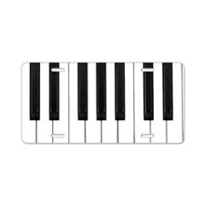 Piano Keys Aluminum License Plate