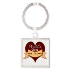 Worlds Best Bus Driver Square Keychain
